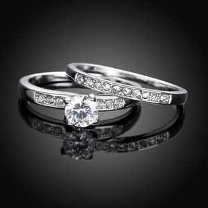 Jewelry - Beautiful CZ Diamond Engagement and Wedding Ring